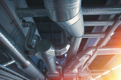 Ventilation pipes and ducts Royalty Free Stock Image