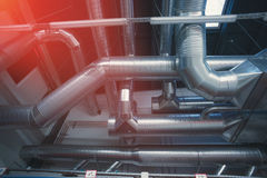 Ventilation pipes and ducts Royalty Free Stock Photos