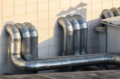 Ventilation pipes Royalty Free Stock Photos