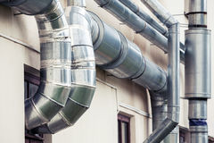 Ventilation pipes, loft style architecture Royalty Free Stock Photo