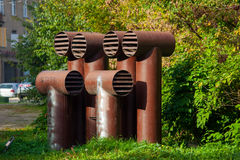 Ventilation pipes Royalty Free Stock Image