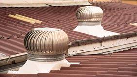 The ventilation. On the roof Stock Photo
