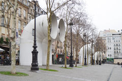 Ventilation shafts of Centre Georges Pompidou. Royalty Free Stock Images