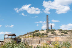 Ventilation shafts at the mine in Tsumeb stock images