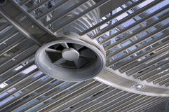 Ventilation of steel roof. From metal material Royalty Free Stock Images