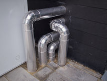 Ventilation system metal pipes Royalty Free Stock Photo