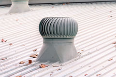 Ventilation system on the roof of factory Royalty Free Stock Photo