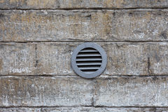 Ventilation system on wall Stock Image