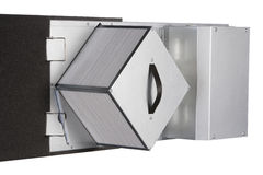 Ventilation systems, heat recovery unit.  royalty free stock images