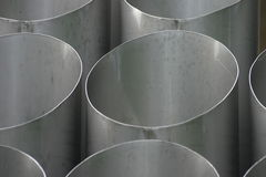Ventilation tubes. For underground parking Stock Photo