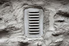 Ventilation window on wall Stock Photo