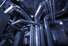 Ventilationsrohre eines Luftzustandes Stockfotografie