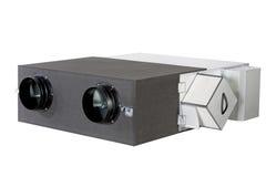 Ventilationssystem, enhet för värmeåterställning Arkivfoto
