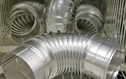 Ventilaton tubes. A number of ventilaton tubes Stock Photo
