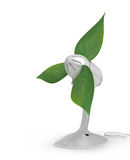 Ventilator. 3d illustration of fan with a green leaves Stock Image