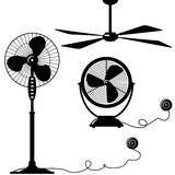 Ventilator. Silhouette of  ventilator (blower, cooler, blowhole Royalty Free Stock Photo