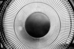 Ventilator. Detail of the home fan - black and white Royalty Free Stock Photo