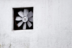 Ventilator. Detail of an old ventilator and a wall Royalty Free Stock Photo