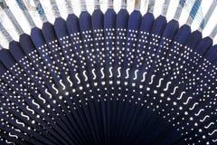 ventilator för bambukinesclose upp Royaltyfri Fotografi