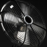 Ventilator or fan in action. (against black background Stock Photo