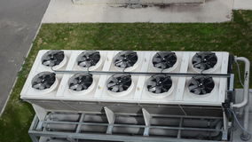 Ventilator fan biogas stock video footage