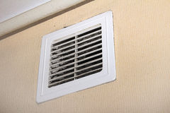 Ventilator filters. Plastic ventilator filters on the wall Stock Image