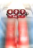 Ventilator op Klassieke Auto voor Kubieke Motor 427 Stock Foto