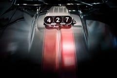 Ventilator op Klassieke Auto voor Kubieke Motor 427 Stock Fotografie