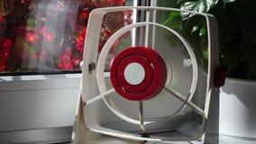 Ventilator. Summer breeze from running fan stock video