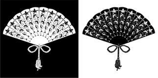 Ventilator - uitstekende illustratie - silhouet Royalty-vrije Stock Foto's