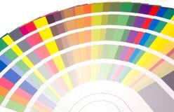 Ventilator van kleuren en toonsteekproeven royalty-vrije stock afbeelding