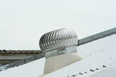 Ventilator on the zinc roof royalty free stock image