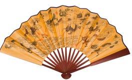 Ventilatore asiatico della mano con i draghi Immagini Stock