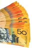 Ventilatore australiano dei soldi Fotografia Stock