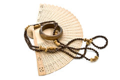 Ventilatore, branelli e braccialetto. fotografie stock libere da diritti