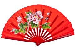 Ventilatore cinese orientale rosso fotografie stock