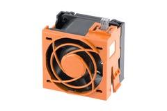 Ventilatore con la gabbia arancione di protezione Immagini Stock