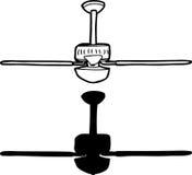 Ventilatore da soffitto generico illustrazione vettoriale
