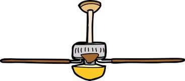 Ventilatore da soffitto isolato illustrazione vettoriale
