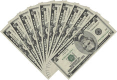 Ventilatore dai cinque dollari immagine stock