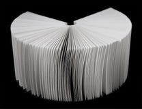 Ventilatore dai fogli di un Libro Bianco Fotografia Stock Libera da Diritti