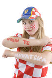 Ventilatore del Croatia fotografia stock