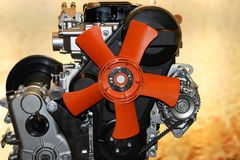 Ventilatore del motore a gas Fotografia Stock