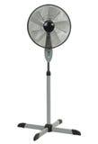 Ventilatore del pavimento su priorità bassa bianca Fotografia Stock Libera da Diritti