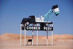 Ventilatore dell'opale di Coober Pedy Immagini Stock