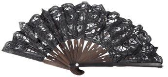 Ventilatore della mano nera fotografie stock libere da diritti