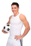Ventilatore di calcio Fotografie Stock