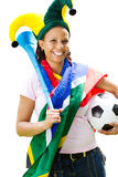 Ventilatore di calcio africano Fotografie Stock