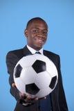 Ventilatore di calcio africano Immagini Stock