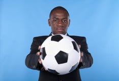 Ventilatore di calcio africano Fotografia Stock